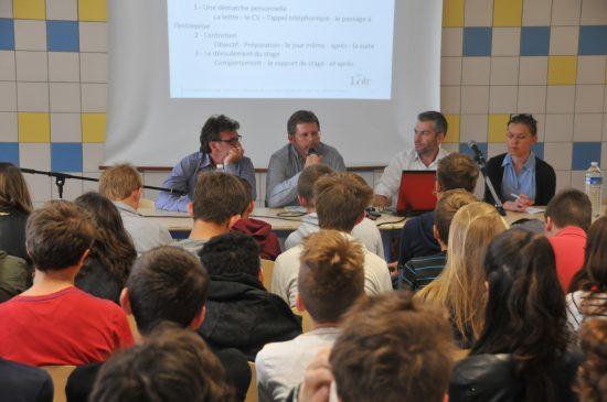 De gauche à droite : Laurent Richet, Laurent Desmares, Gaëtan Detais et Marion Clamageran.